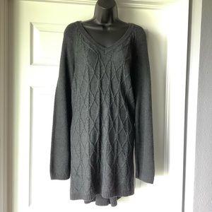 Sonoma Gray Tunic sweater size 3X